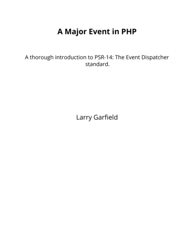 A Major Event in PHP