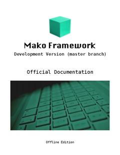 Mako Framework (master branch)