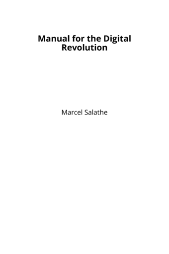 Manual for the Digital Revolution