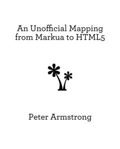 An Unofficial Mapping from Markua to HTML5