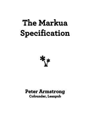 The Markua Specification