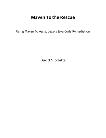 Maven To the Rescue