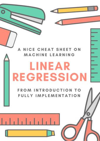 ML Cheatsheet: Linear Regression