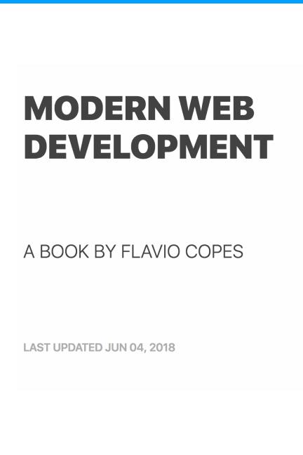 Modern Web Development by Flavio Copes [Leanpub PDF/iPad/Kindle]