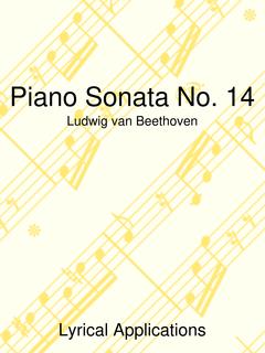 Beethoven Sonata No. 14 Large-Note Version (Moonlight)