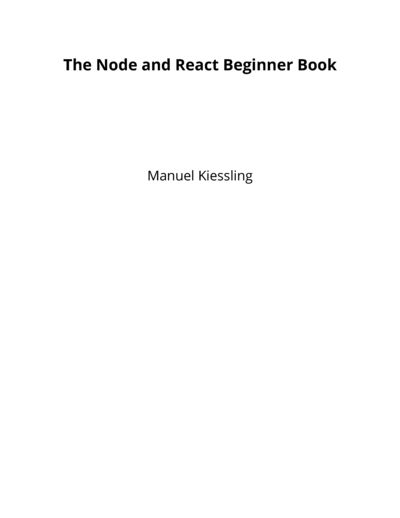 The Node and React Beginner Book