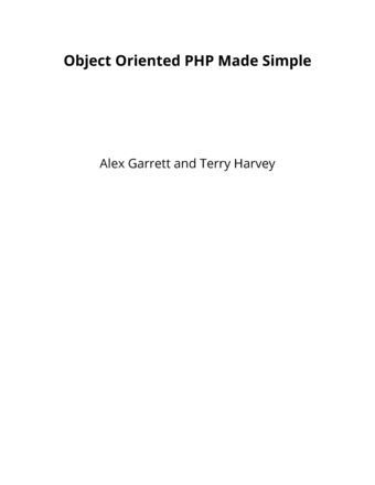 Object Oriented PHP Made Simple