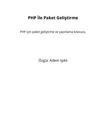 PHP İle Paket Geliştirme