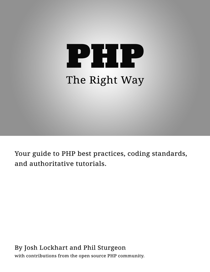 php mysql the right way