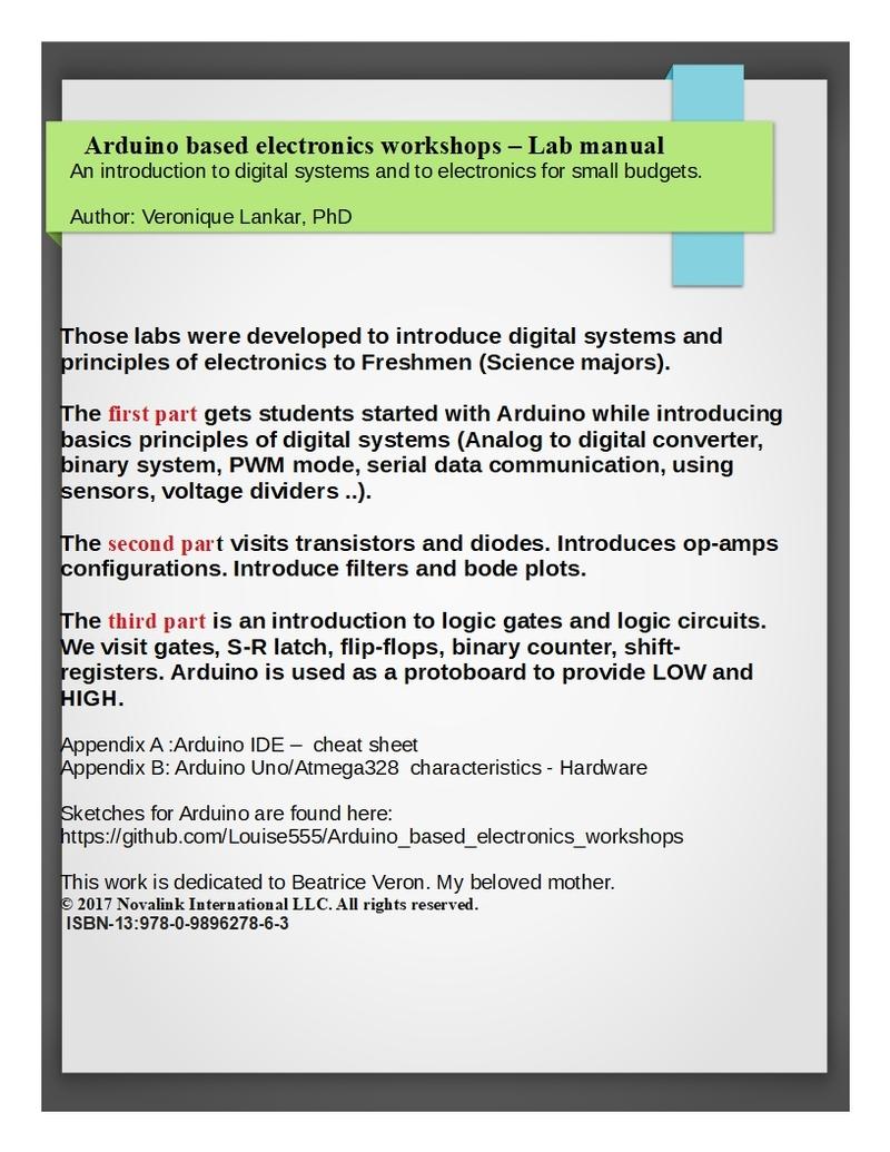 Arduino based… by Dr  Veronique Lankar [PDF/iPad/Kindle]