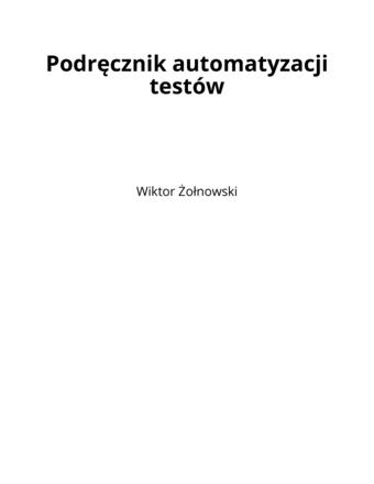 Podręcznik automatyzacji testów