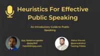 Heuristics for Effective Public Speaking