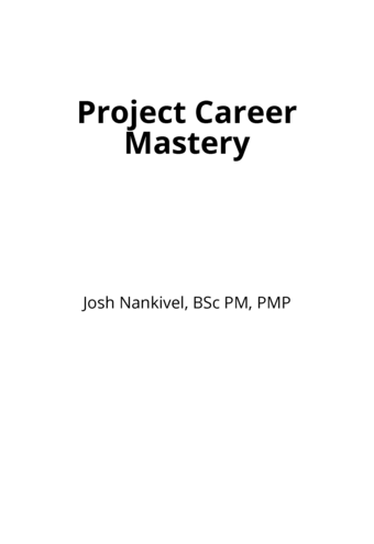 Project Career Mastery