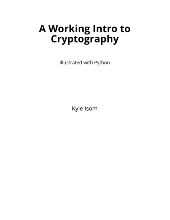 A Working Intro to Cryptography