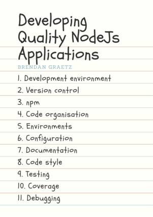Developing Quality NodeJs Applications