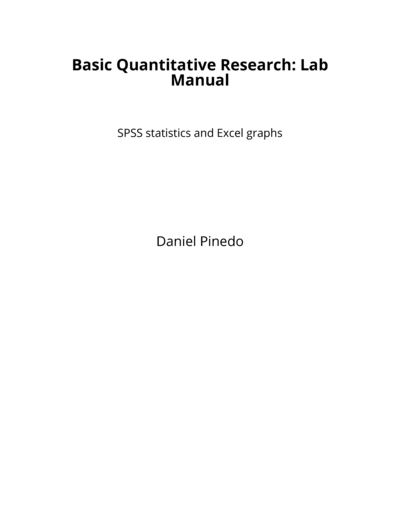 Basic Quantitative Research: Lab Manual
