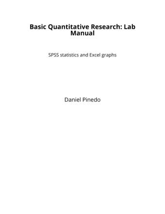 Basic Quantitative Research: Lab Manual