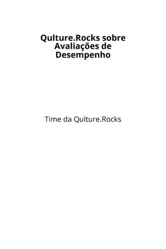 Qulture.Rocks sobre Avaliações de Desempenho