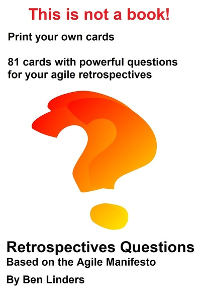 Agile Manifesto Retrospectives Questions Cards