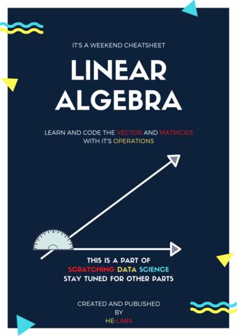 Scratching Linear Algebra in Weekend