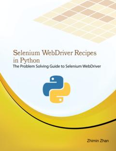 Selenium WebDriver Recipes in Python