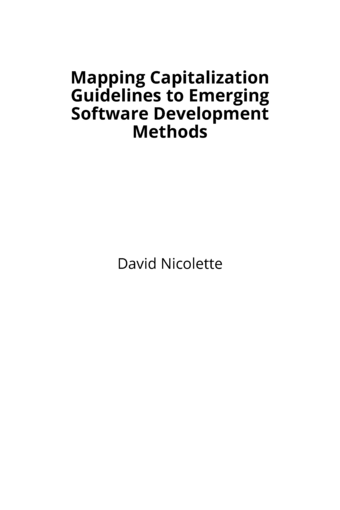 Mapping Capitalization Guidelines to Emerging Software Development Methods