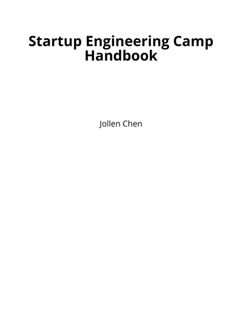 Startup Engineering Camp Handbook