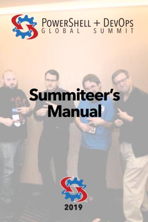 The PowerShell + DevOps Global Summit Manual for Summiteers