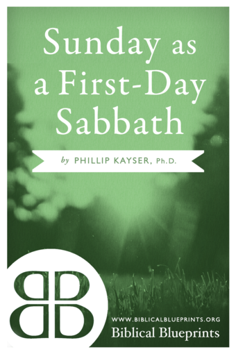 Sunday as a First-Day Sabbath