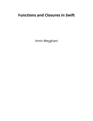 Functions and Closures in Swift