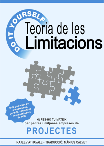 Teoria de les Limitacions – Kit Faci-ho Vostè Mateix per petites i mitjanes empreses de projectes