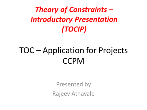 Theory Of Constraints Handbook Ebook