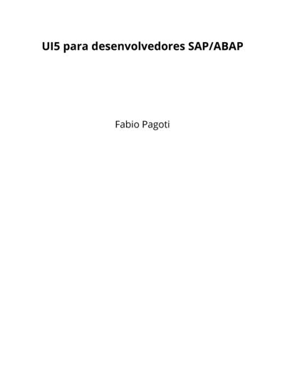 UI5 para desenvolvedores SAP/ABAP
