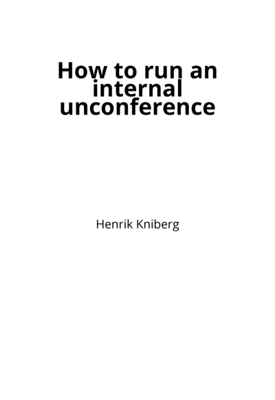How to run an internal unconference