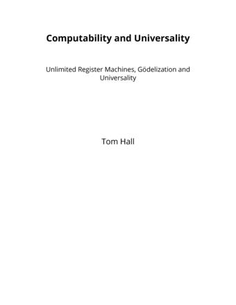 Computability and Universality