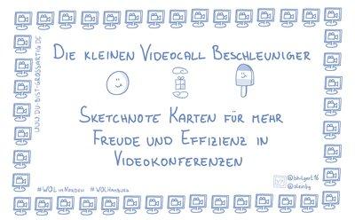 Der kleine Videocall Beschleuniger. Sketchnote Karten für mehr Freude und Effizienz in Videokonferenzen