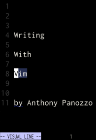 Writing With Vim