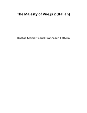 The Majesty of Vue.js 2 (Italian)