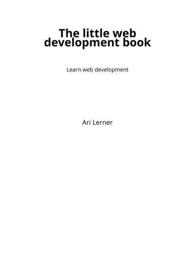 The little web development book