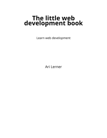 The little web development book