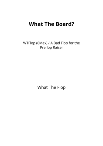 What The Board?