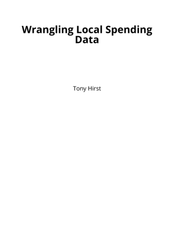 Wrangling Local Spending Data