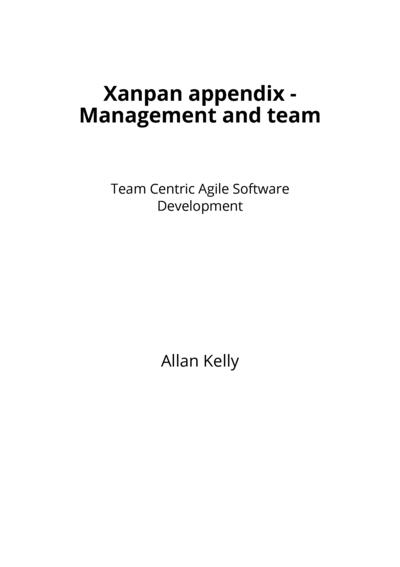 Xanpan appendix - Management and team
