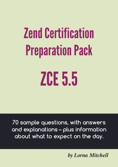 Zend Certification Preparation Pack